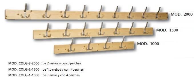 Bancos de vestuario de madera - Perchero madera pared ...